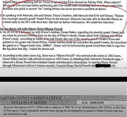 Security Guard Shaun Prince Investigation File 5